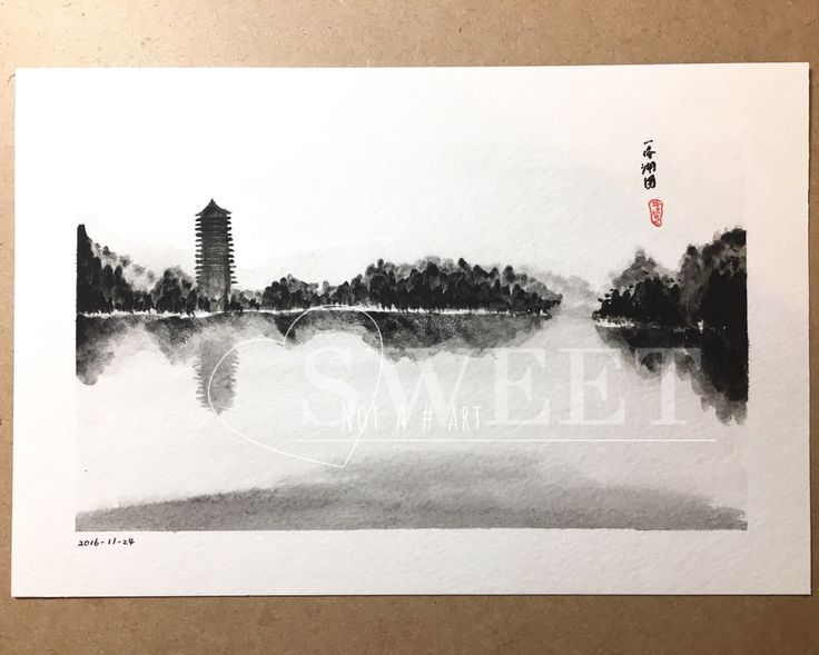 A personal favorite from my Etsy shop https://www.etsy.com/listing/480788464/weiming-lake-peking-university-china