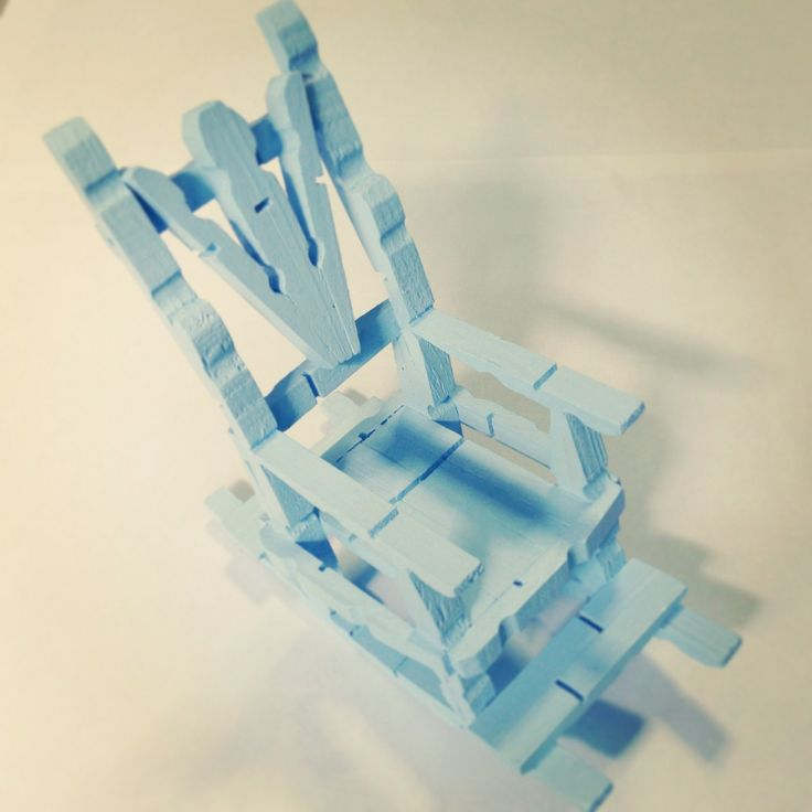 Rocking chair wooden clothes pegs http gohandicrafts for Small wooden rocking chair for crafts