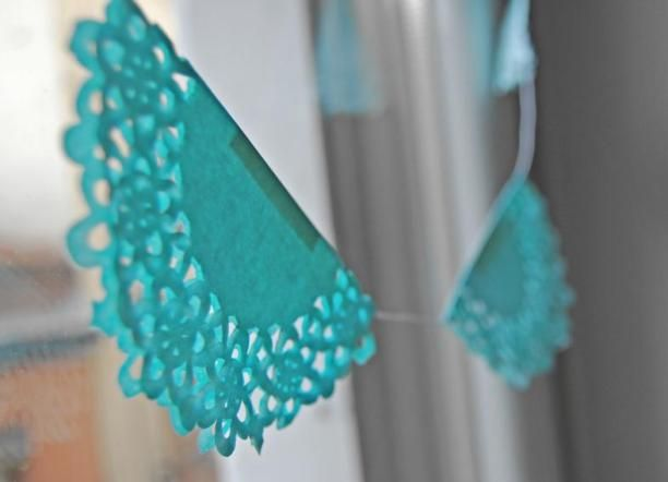 blondas de papel - azul