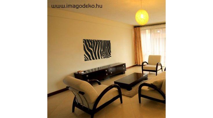Zebra minta faldekoráció 94X47cm - Plasztikus dekor - Imágódeko - Otthondekor és üzletdekor