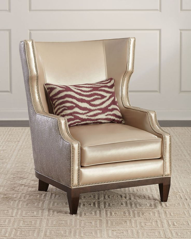 Massoud diorio leather wing chair leather wing chair