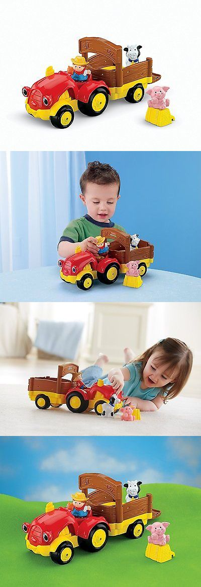 baby and kid stuff: Kids Activity Toy Toddler Pretend Play Set Learning Fisher Price Farm Tractor -> BUY IT NOW ONLY: $36.52 on eBay!