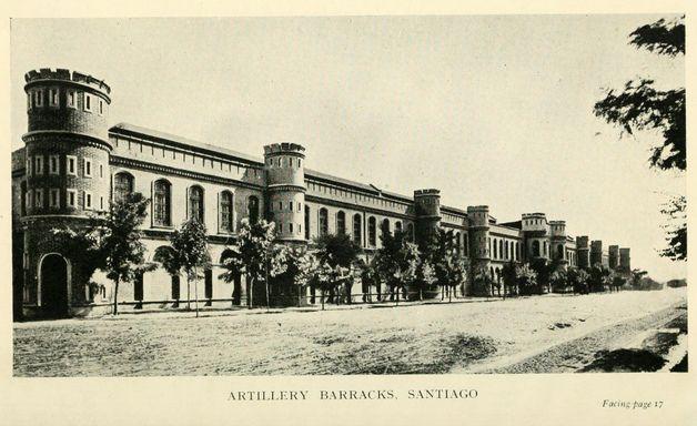 edificio de los arsenales de Guerra del libro CHILE: Its Land and People de Francis Maitland | Flickr: Intercambio de fotos