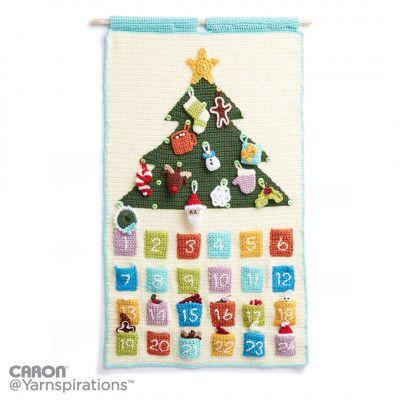 Countdown to Christmas Crochet Advent Calendar, Crochet Pattern | Yarnspirations