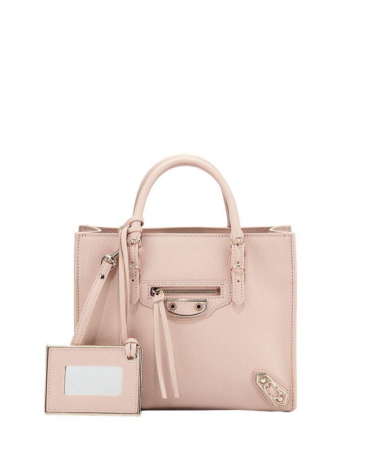 Papier Mini A4 AJ Tote Bag, Light Pink - Balenciaga