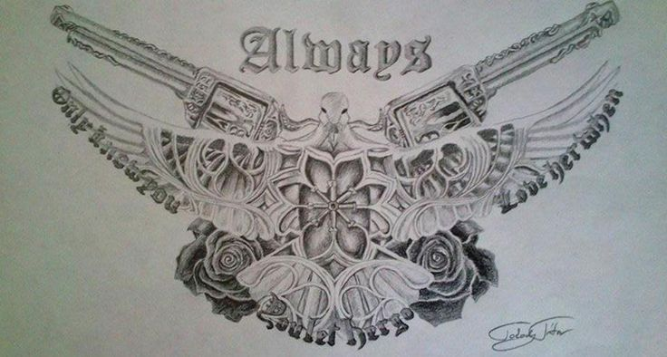 Always/Bon Jovi/Drawing/Pistol/Gun/Rose/Pidgeon