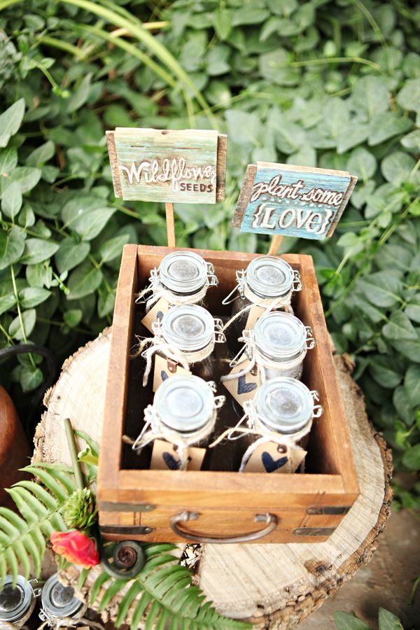 wildflower seeds to go with your woodsy inspired wedding