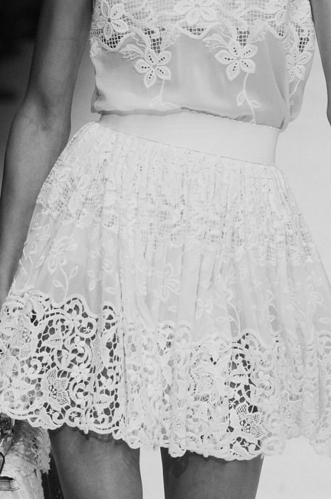 wow: Summer Dresses, Runway Fashion, Lace Tops, Fashion Details, Style, Summer Parties, White Lace Dresses, Dolce & Gabbana, Lace Skirt