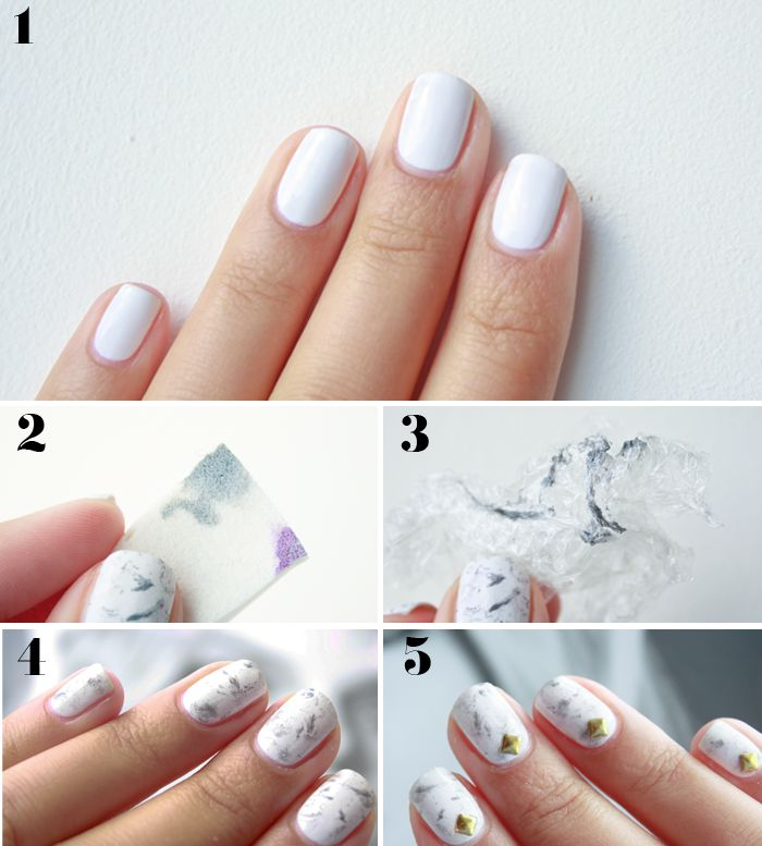 Head to my blog for marble nail art tutorial! www.polishedbymaria.com