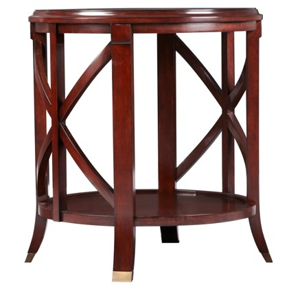 Pavilion End Table   Antique Mahogany The Bombay Exclusive Pavilion Antique  Mahogany End Table Is A