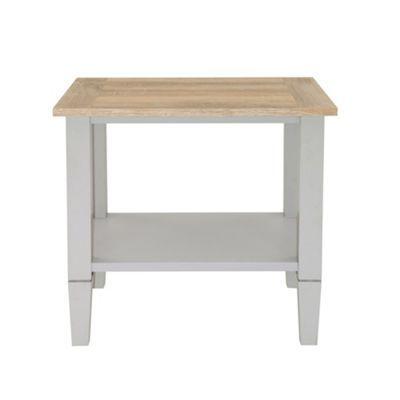 Debenhams Oak effect and grey 'Rustic' side table- at Debenhams.com