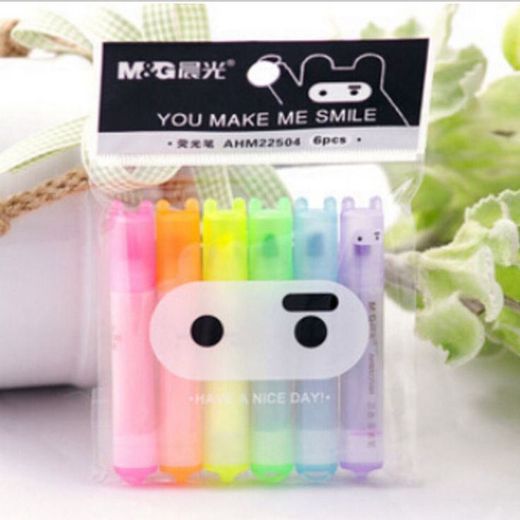 6 pcs/lot Cute Kawaii Mini Highlighter Creative Lovely Cartoon Ninja Rabbit gel Pen for Kids Korean Stationery Free shipping 531