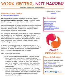 Ideas and tips for busy business owners, published by Daley Progress