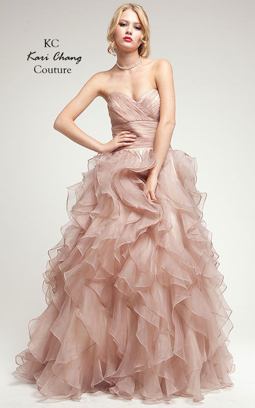 KC14314 Prom Ballgown in Organza by Kari Chang Couture