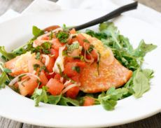 Ginger-Lime Salmon with Watermelon Mint Salsa