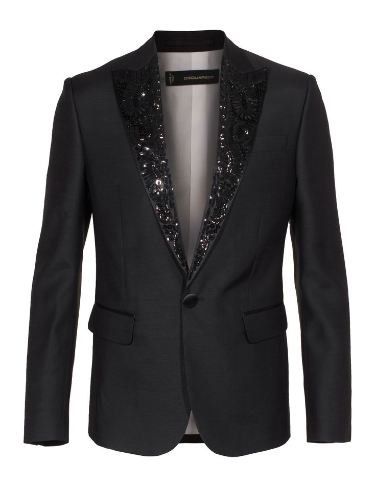 #DSQUARED Smoking Black Smoking jacket with details
