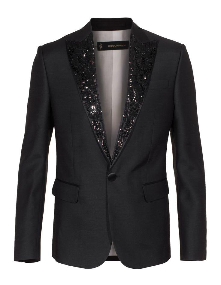 #DSQUARED Smoking Black Smoking jacket with details