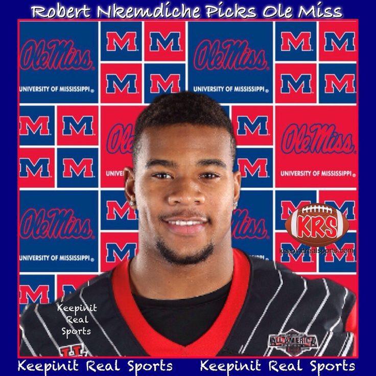 Keepinit Real NCAAF News: Robert Nkemdiche Picks Ole Miss  To kick off national signing day, Defensive end Robert Nkemdiche the No. 1 overall recruit, announced his intentions to sign with Mississippi. The 6-foot-5, 260-pound Nkemdiche, from Loganville (Ga.) Grayson, made the announcement Wednesday morning at a news conference broadcast on ESPNU, the first day prep football recruits could officially sign with colleges. He chose the Rebels over LSU and Florida.