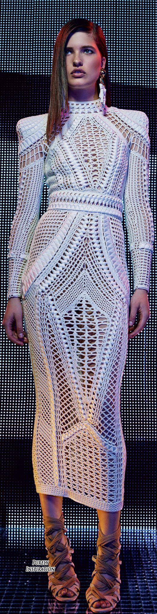 Little White Dress Very Sexy Balmain Resort 2016 Women's Fashion RTW | Purely Inspiration