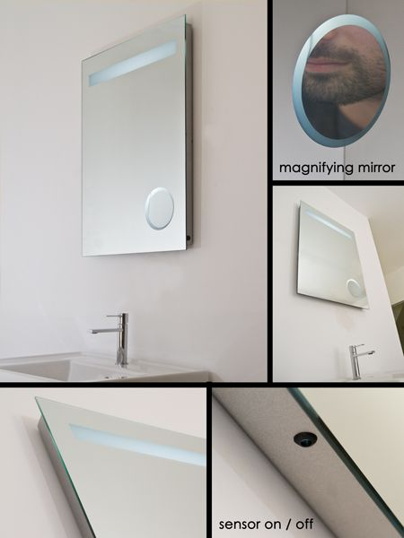 Bathroom Mirror with Lights & Magnifying Mirror (63J)