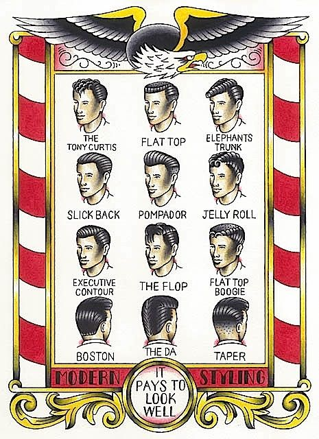 Vintage barber shop cuts