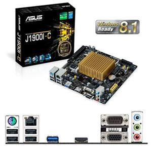 ASUS J1900I-C Mini ITX Motherboard J1900I C (J1900I-C). Asus J1900i-c Mini Itx Motherboard J1900i C .J1900i-c. This motherboard features an integrated Intel Celeron Quad-Core Processor J1900 and Intel HD Graphics. ASUS J1900I-C Motherboard: Intel Celeron quad-core J1900 Processors, 2 x SO-DIMM, Max. It features support for dual independent displays with resolutions up to 2500x1600, and also has integrated USB 3.0 support. 8GB, DDR3L 1333 MHz Non-ECC, Un-buffered Memory, Dual Channel...