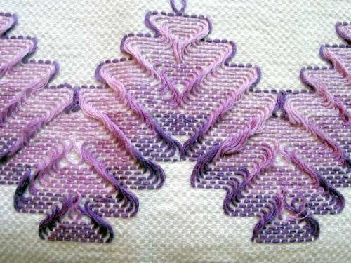 Embroidery on huck towel - My Mom's Favorite     Needlecraft