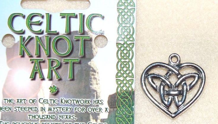 Celtic knot hjärta- hänge metall