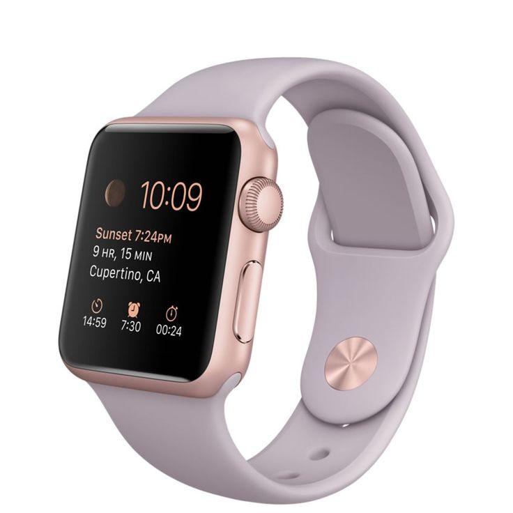 Apple Watch Sport - 38mm Rose Gold Aluminium Case with Lavender Sport Band - Apple (AU)