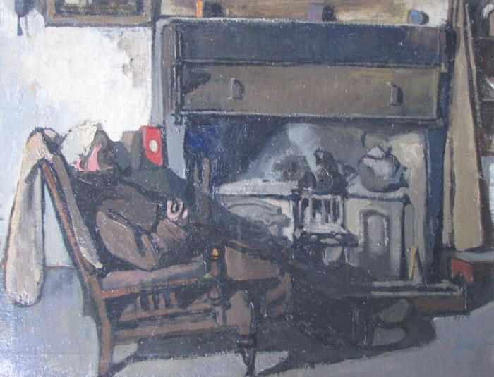 By the Fireside by Joan Eardley (1921-1963)