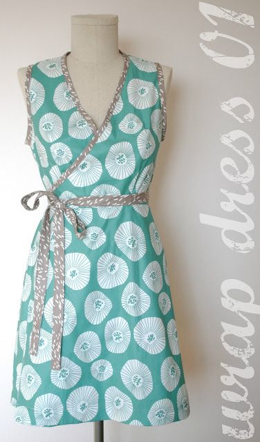 Wrap Dress Pattern Free | cut a little smaller and in a stretch fabric for a perfect maternity/nursing dress