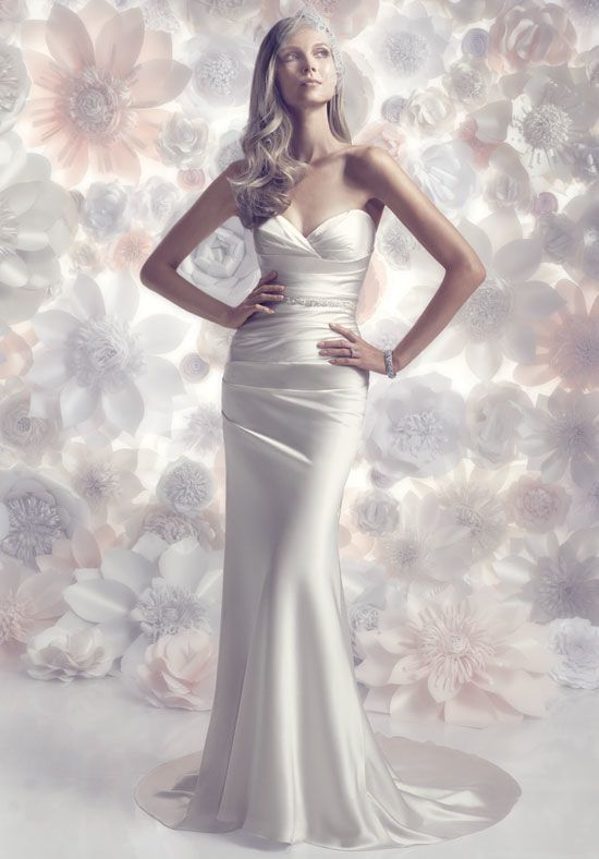 Lovely ruched Italian Silk Charmeuse strapless she... | Wedding Vlogs