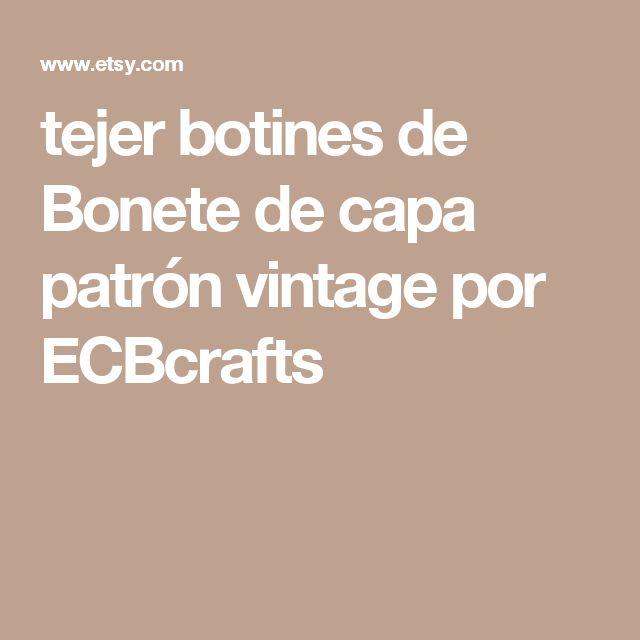 tejer botines de Bonete de capa patrón vintage por ECBcrafts