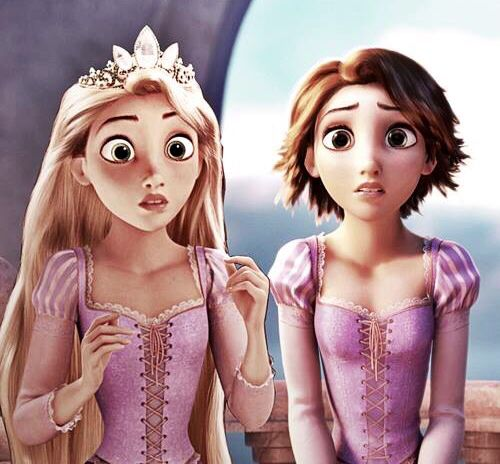 Image result for before and after rapunzel tangled