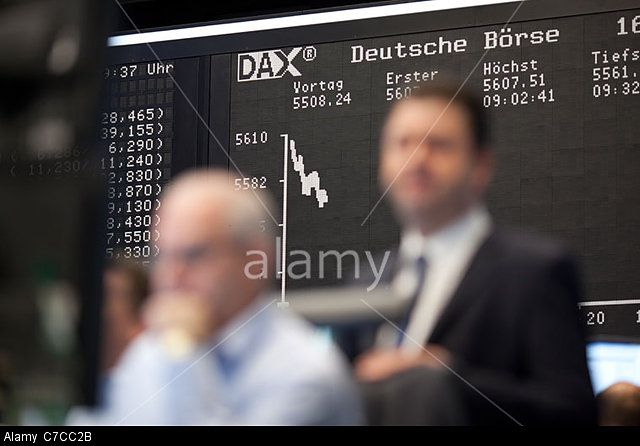 The Frankfurt Stock Exchange, Germany. © Jeff Gilbert / Alamy