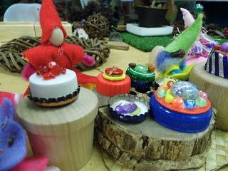 High Tea in Fairyland... how to make little cakes and desserts out of lids, buttons and beads.