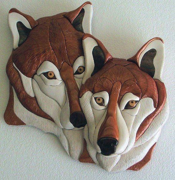 Nuevo ~ ~ Patrón De Madera Intarsia Wolf-Love (Original) Nuevo   Artesanías, Arte y artesanías para el hogar, Trabajo con madera   eBay!