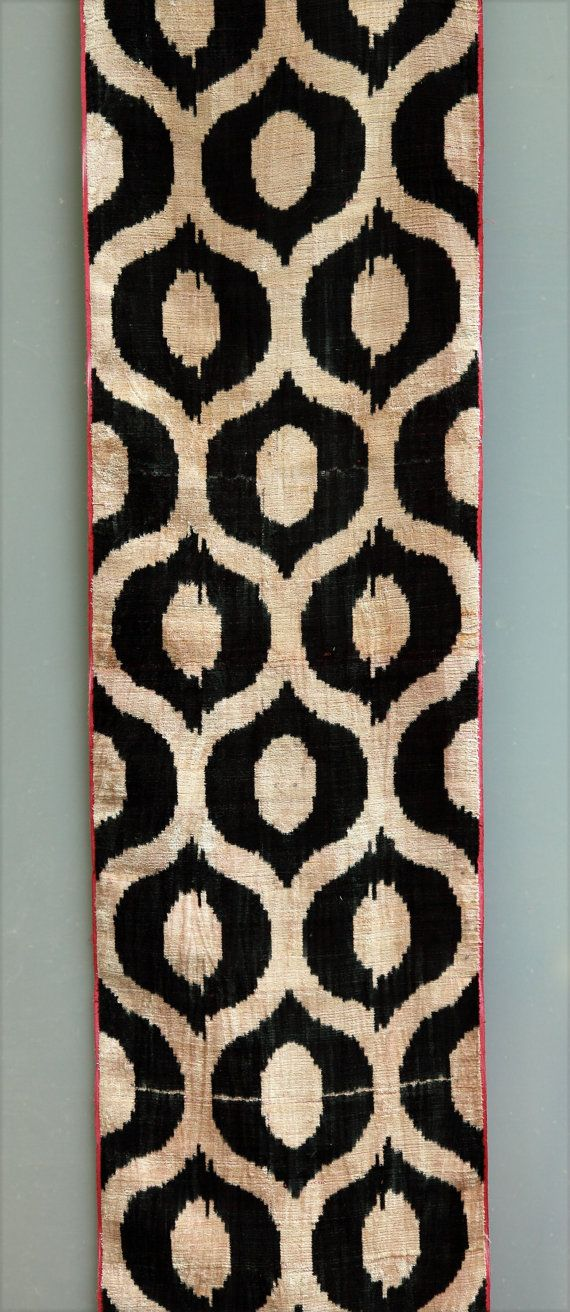 This would make such an awesome design for an ironing board cover! -silk and cotton velvet - alabahman - ikat fabric