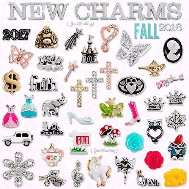 Our newest charms!! Origami Owl 2016 fall Collection