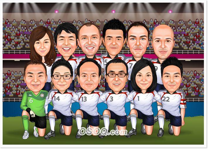 Soccer Team Clip Art Caricature Sports Team Soccer Team