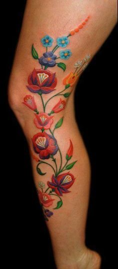 mexican flower tattoos - Google Search