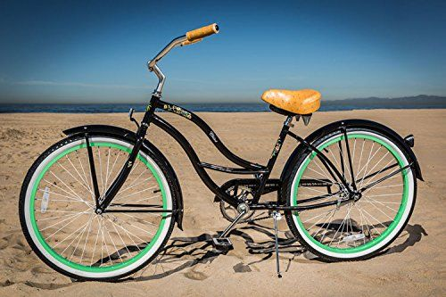 Vintage Fashion and Lifestyle JBikes Chloe 26 inch Single Speed Women's Beach Cruiser Bicycle