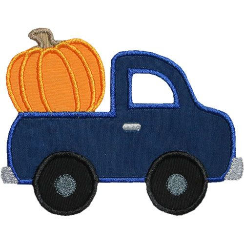 Truck Pumpkin Applique by HappyApplique.com