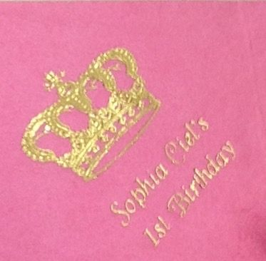 #princessparty  Choose from a variety of princess themed colors, designs, and fonts to create the perfect customized napkin for your #birthdayparty