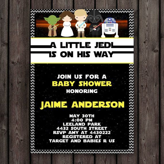 FAST Ship, Star Wars Baby Shower Invitation, Customized Wording Included,  Printable Invitation, Star Wars Theme Baby Shower