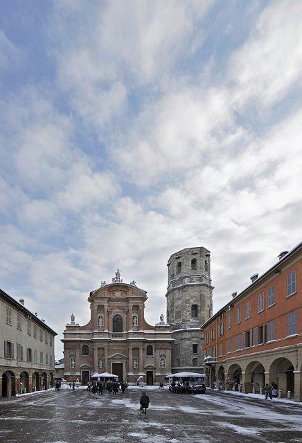 Spent lots of time in Piazza San Prospero - Reggio Emilia, Italy