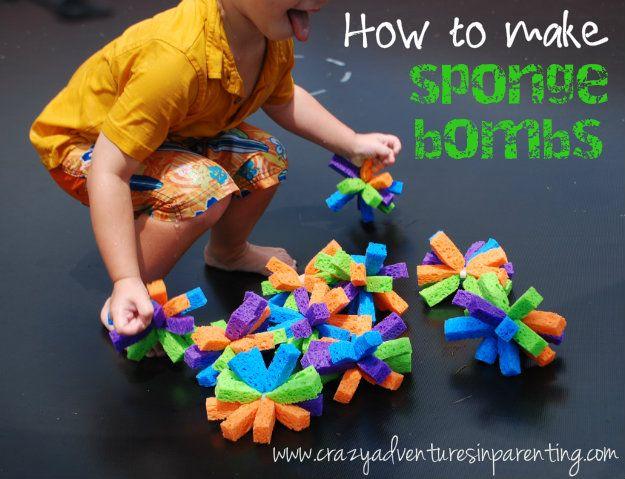 Sponge Bomb Tutorial - Crazy Adventures in Parenting  #BHGSummer