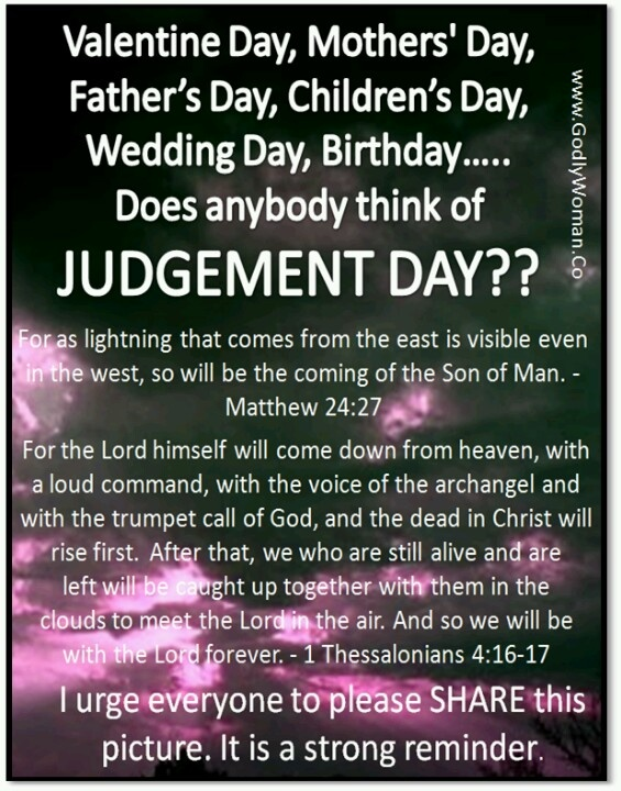 judgement day word of god living for christ godly w