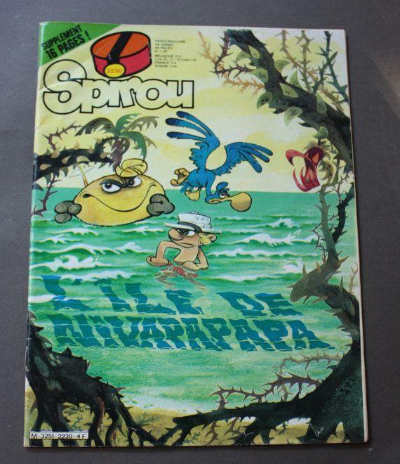 Spirou, #2230, L'Île de Nivapapapa, January 8, 1981 Belgian Comic Book in French