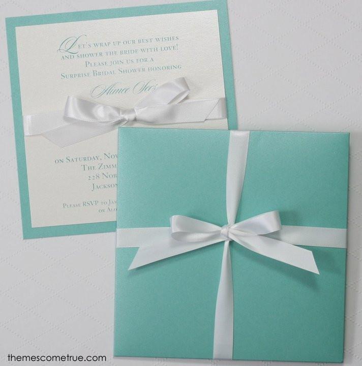 Gorgeous Tiffany inspired wedding invitation 11 best
